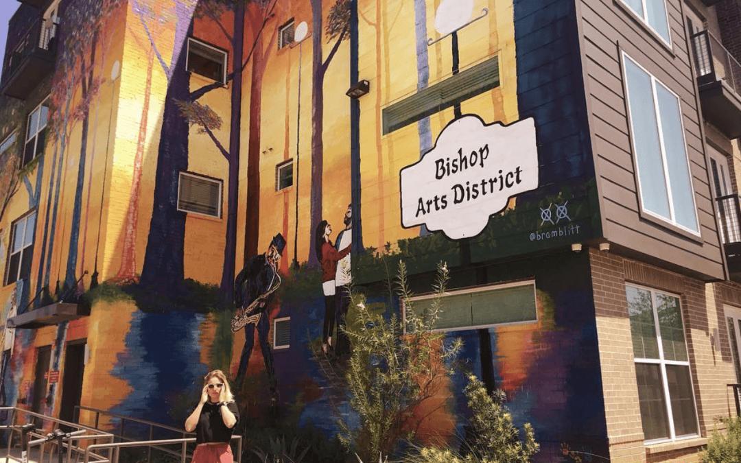 Image of neighborhood businesses at Bishop Arts