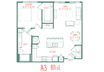 One bedroom Apartment Bishop North