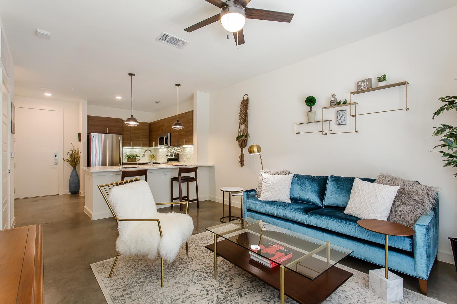 Living Room at Bishop Flats